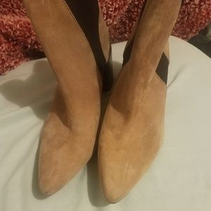 Zara taupe/Tan suede booties/boots
